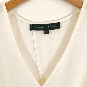 Proenza Schouler white hankerchief blouse sz 4
